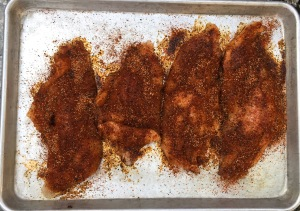 Seasoning the Catfish Filets